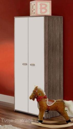 šatní skříň dětská - dub Sonoma šedý
