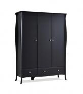 Šatní skříň Baroko 3D2S - černá/hnědá