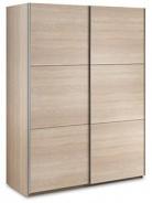 Šatní skříň Samanta s posuvnými dveřmi - dub sonoma