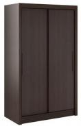 Šatní skříň Lisbeth I s posuvnými dveřmi - čokoláda / wenge