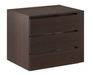 Kontejner do šatní skříně Samanta - čokoláda / wenge