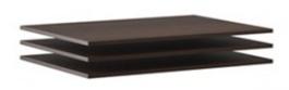 Doplňkové police k šatní skříni Lisbeth II (3ks) - čokoláda/wenge