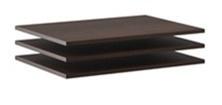 Doplňkové police k šatní skříni Lisbeth I (3ks) - čokoláda/wenge