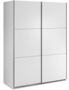Šatní skříň Samanta s posuvnými dveřmi - bílá