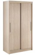 Šatní skříň Lisbeth I s posuvnými dveřmi - dub sonoma