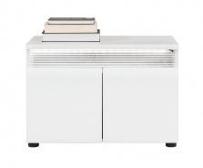 Botníková skříňka Neo s osvětlením - bílá / beton