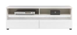 Televizní stolek Neo s osvětlením - bílá/beton