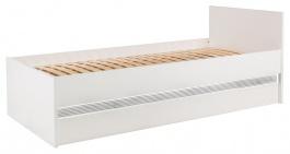 Dětská postel Neo 90x200cm s úložným prostorem a osvětlením - bílá/beton