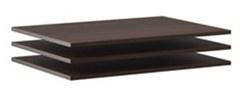 Doplňkové police k šatní skříni Samanta (3ks) - čokoláda / wenge