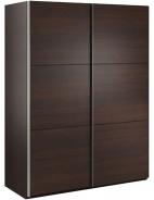Šatní skříň Samanta s posuvnými dveřmi - čokoláda/wenge