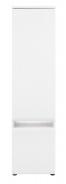 Policová skříň Neo s osvětlením - bílá/beton