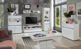 Obývací pokoj Neo - bílá/beton