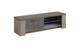 Televizní stolek Gabin - dub/šedá