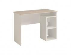 Psací stůl Kenny - bílá/akácie