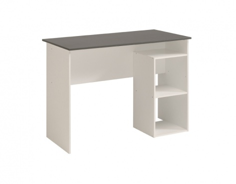 Psací stůl Kenny - bílá/šedá