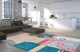 Kusový koberec Plameňák 281-petrol