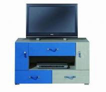 Televizní stolek Adéla IX - jasan/modrý