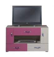 Televizní stolek Adéla IX - jasan/růžový
