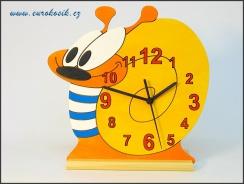 Dětské hodiny nástěnné Šnek