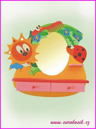 Dětské kadeřnictví beruška se zrcadlem
