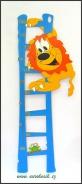 Dětský metr Lev modrý