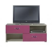 Televizní stolek Adéla X - jasan/růžový