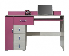 Psací stůl Adéla XIII - jasan/růžový