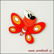 Dekorace na zeď motýl 30cm