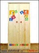 Dětská dřevěná skříň 1600x795x530