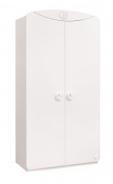 Dvoudvéřová šatní skříň Chloe - bílá