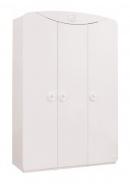 Třídvéřová šatní skříň Chloe - bílá