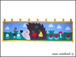 Kapsář za postel ježek 195x55cm