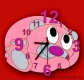 Dětské hodiny nástěnné Míša růžový