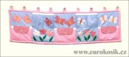 Kapsář za postel Květiny 200x55cm