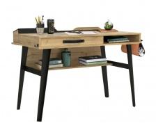 Malý industriální psací stůl Gamora - dub zlatý/černá