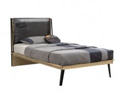 Studentská postel 120x200cm Gamora - dub zlatý/černá