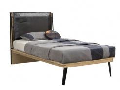 Dětská postel 100x200cm Gamora - dub zlatý/černá