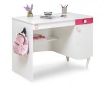 Dětský psací stůl Rosie II - bílá/rubínová