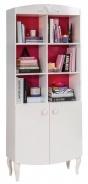 Dětská knihovna Rosie - bílá/rubínová