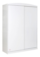 Šatní skříň Rosie s posuvnými dveřmi - bílá