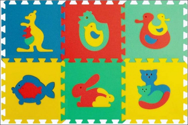 Pěnové puzzle koberec maxi 6 zvířátka