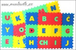 Pěnový koberec-písmena, 36 dílků