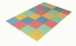 Zakončovací díly pro pěnový koberec 24 maxi pevný