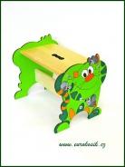 Dětská stolička Kočka zelená