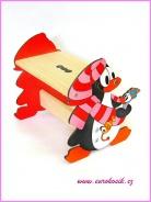 Dětská stolička tučňák červený