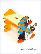 Dětská stolička Tučňák modrý
