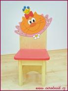 Dětská židle Kočka