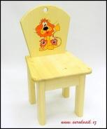 Dětská židlička Lev s mláďaty