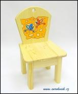 Dětská židlička Myši a sýr
