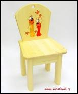 Dětská židlička Tužky